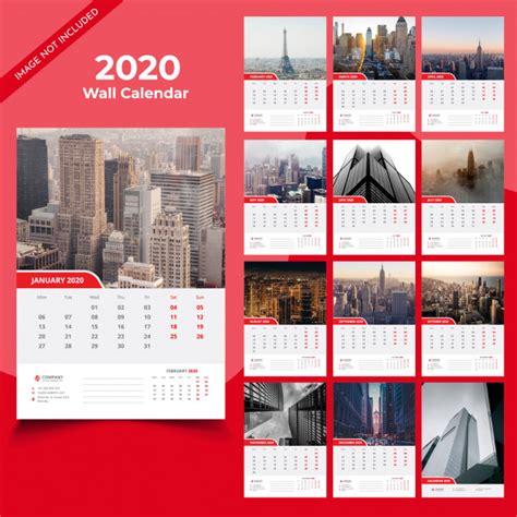 wall calendar template vector premium