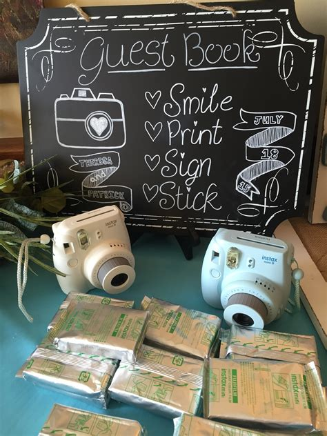 with instant photo instant picture guestbook albany wedding dj