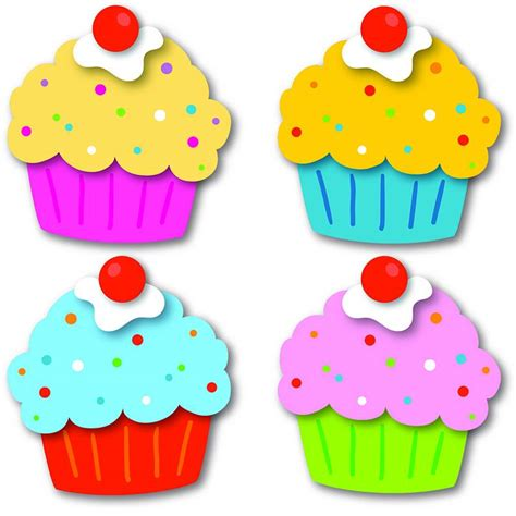 cupcakes cut outs cd 120196 accents for classroom 237 | cupcakes cut outs cd 120196 3