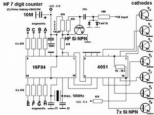 led frequency meter schematic With led counter circuit