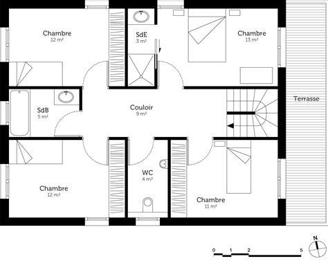 plan maison 4 chambres etage plan maison 4 chambres etage maison moderne