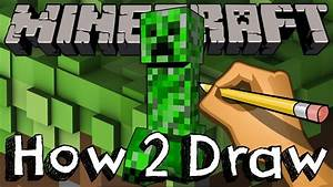 how to draw the creeper from minecraft drawing coloring