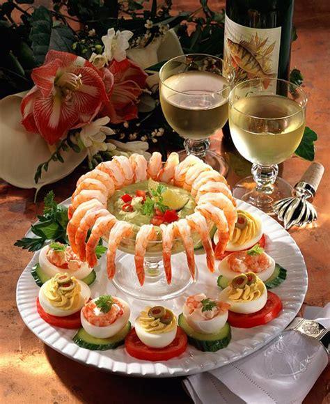 garnelen platte mit gefuellten eiern rezept lecker