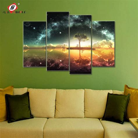 space ocean canvas set wall art canvas paintings wall