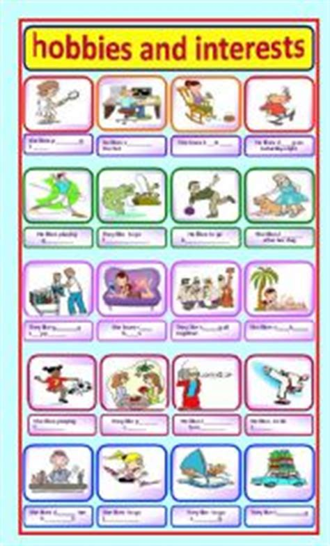 What Activities And Interests To Put On A Resume by Teaching Worksheets Hobbies