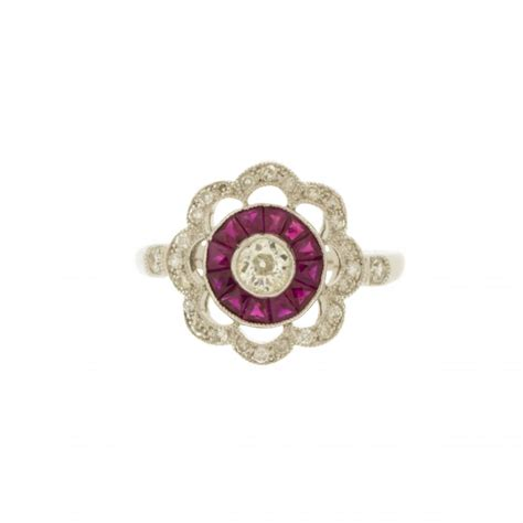 deco style ruby ring