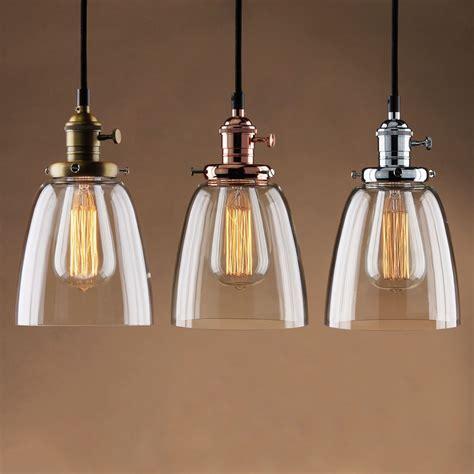 adjustable vintage industrial pendant lamp cafe glass