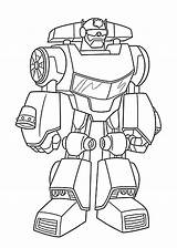 Rescue Coloring Heatwave Bot Boat sketch template