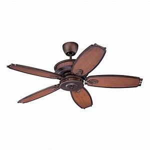Lighting le monde vintage gold leaf ceiling fan without for Canadian tire bathroom fan