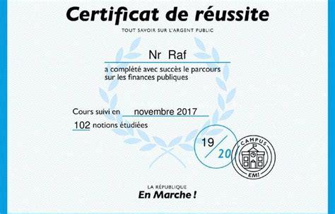 certificat de conformité gratuit comment en marche veut 233 duquer les fran 231 ais avec sa plateforme en ligne