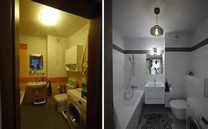 renovation appartement 17 projets en photos avant et apres With porte d entrée alu avec salle de bain avec machine à laver intégrée