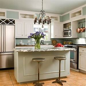 Kitchen design i shape india for small space layout white for Small kitchen island designs ideas plans
