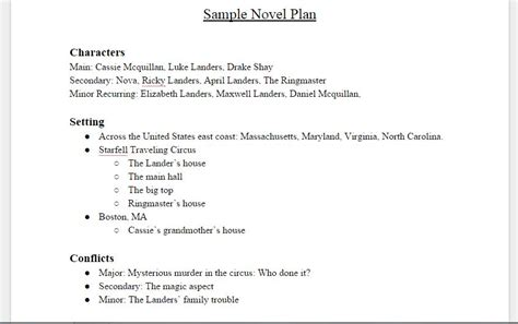 writing a novel outline template how to plan a novel the writing fortress