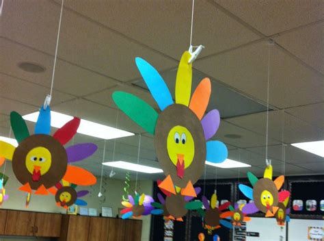 simple hanging turkey decorations image only classroom 602 | 9cf439108fdffe904dca07c9f0e6d8b7
