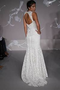 lace mermaid wedding dress open back ipunya With open back mermaid wedding dresses