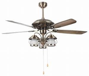 Living room vintage bronze ceiling fan light quot modern