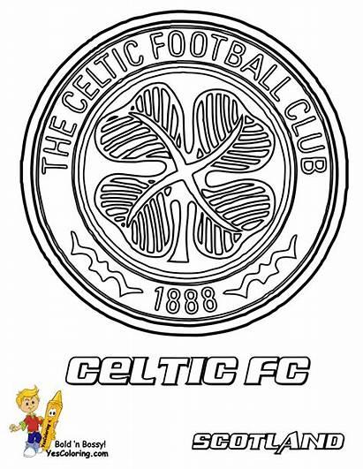 Soccer Pages Celtic Coloring Printouts Fc Printable