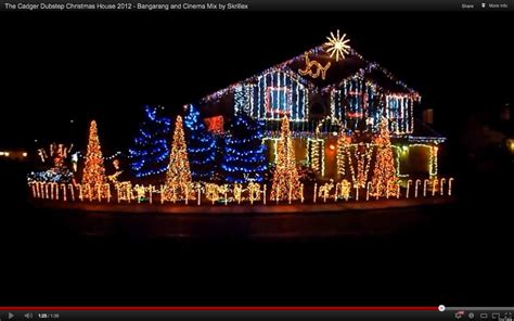 dubstep christmas light show at cadger family home sets