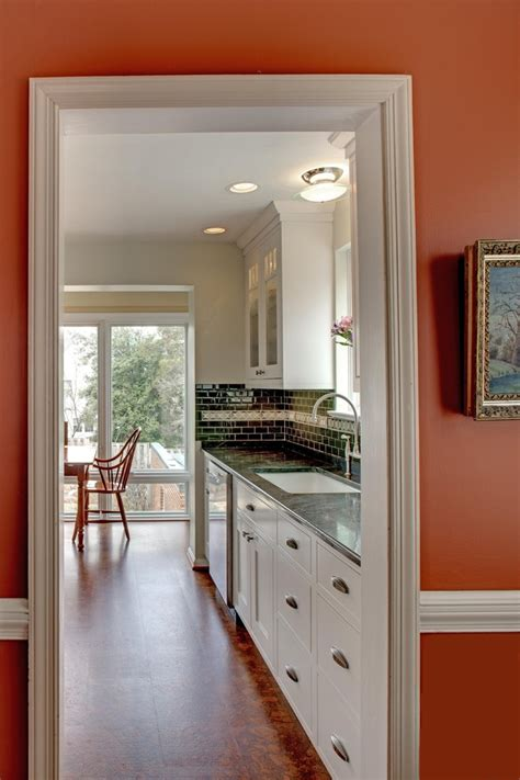 wood trim for kitchen cabinets what color granite goes with white cabinets traditional 1952