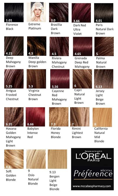 loreal colors best 25 loreal hair color chart ideas on