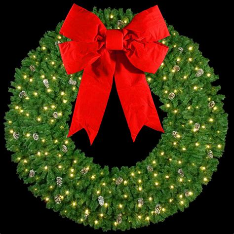 60 inch lighted outdoor christmas wreath artificial wreaths 10 3 d wreath with 60 quot velvet bow and 180 c7 lights