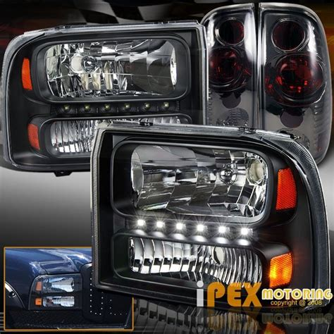 new 1999 2004 ford f250 f350 duty led black