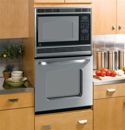ge jkpspss  microwave combination wall oven   cu ft thermal oven truetemp oven