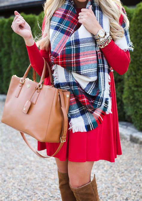 outfit christmas plaid scarf shop dandy  florida