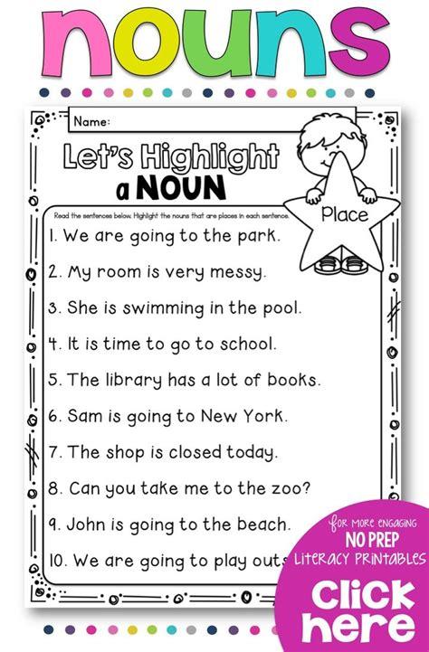 nouns no prep printables irregular nouns proper nouns