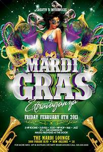 Mardi Gras Party Flyer Template By Creativb