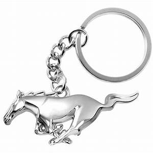 Ford Mustang 3D Pony Chrome Key Chain-M22694