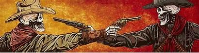 David Lozeau Standoff Western Gun Fight Tattoo