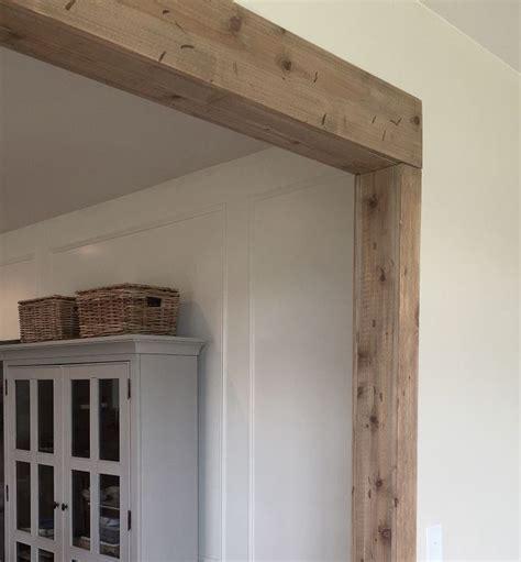 faux barn wood beam doorway pantry faux wood beams