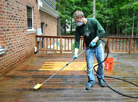 strip clean  deck  stain young house love