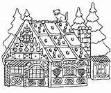 Gingerbread Coloring Adults Colorear Guardado Desde Mandalas sketch template
