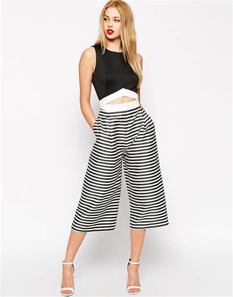 white and black jumpsuit 5 black white striped jumpsuits
