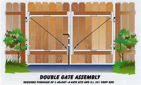 double swing wood fence gate double gate cheap home improvement   pinterest fence