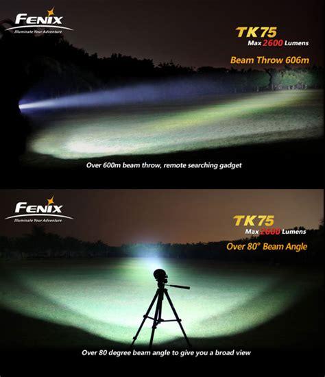 le torche puissante longue portee le torche fenix tk75 4000 lumens ultra puissante et longue port 233 e