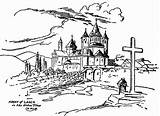 Monastery Drawing Getdrawings Timing Definition Abbey Laach Olden sketch template