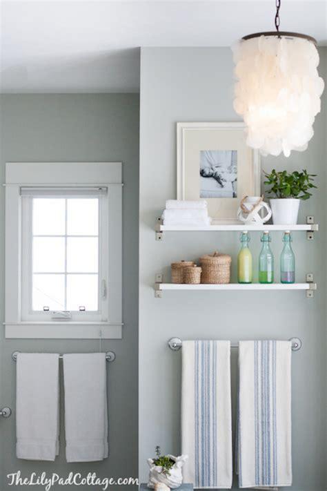 ikea shelf cottage bathroom benjamin arctic