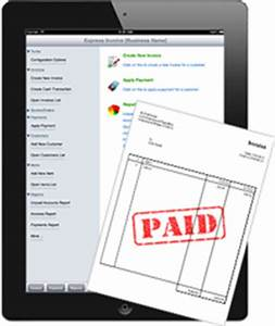 new ipad version of express invoice provides easy With express invoice app