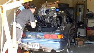 Toyota Mr2 Turbo Engine Installation Sucks   From The Top That Is
