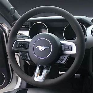 All Black Suede Leather Steering Wheel Stitch-on Wrap ...