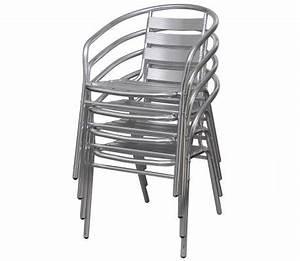 Küchen Und Esszimmerstühle : 4 aluminium esszimmerst hle gartenst hle stapelbar g nstig kaufen ~ Watch28wear.com Haus und Dekorationen