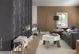 Beige Grau Kombinieren : tapeten naturtoene verbreiten behaglichkeit wohnen ~ Markanthonyermac.com Haus und Dekorationen
