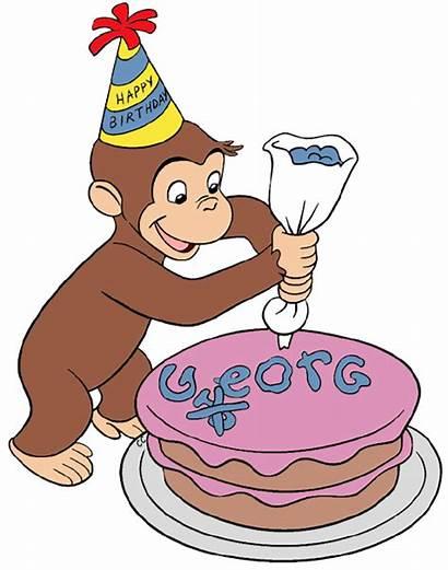 Curious George Clipart Birthday Cake Cartoon Clip