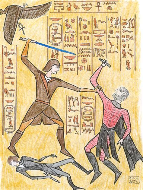 egyptian wall relief colour  gothkath  deviantart