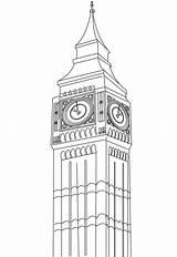 Coloring Ben United Kingdom Windsor Castle Printable Tower London sketch template
