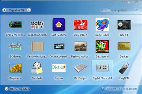 gadget bureau meteo windows 7 ajoutez des gadgets