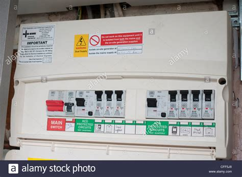 New Fuse Box Uk by Domestic Fuse Box Stock Photo 43974288 Alamy